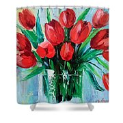Bouquet Of Tulips Shower Curtain