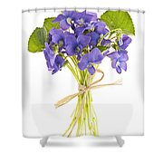 Bouquet Of Violets Shower Curtain by Elena Elisseeva