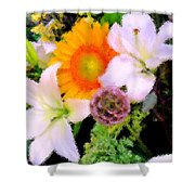 Bouquet Softly There Shower Curtain