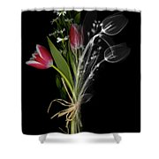 Bouquet X-ray Shower Curtain