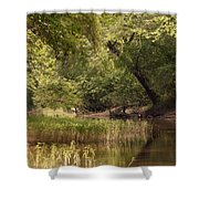 Bourbeuse Reflection Shower Curtain