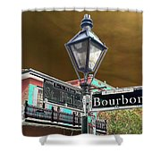 Bourbon And St. Phillip Streets Shower Curtain
