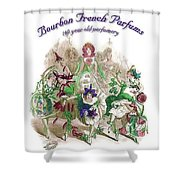 Bourbon French Perfume Shower Curtain
