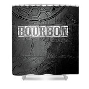 Bourbon In Black And White Shower Curtain