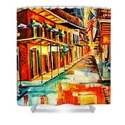 Bourbon Street Blitz Shower Curtain