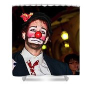 Bourbon Street Clown Mime Shower Curtain