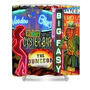 Bourbon Street Neon Shower Curtain
