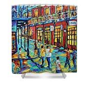 Bourbon Street New Orleans By Prankearts Shower Curtain