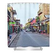 Bourbon Street - New Orleans Louisianna Shower Curtain