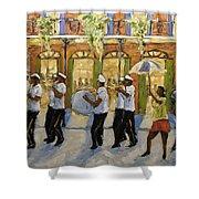Bourbon Street Second Line New Orleans Shower Curtain