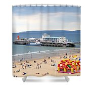 Bournemouth Pier And Beach Shower Curtain