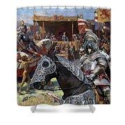 Bouvier Des Flandres - Flandres Cattle Dog Art Canvas Print - Knights Tournir Shower Curtain