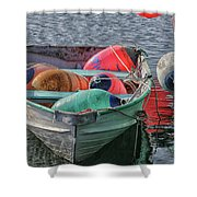 Bouys In A Boat Shower Curtain