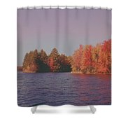 Bow Lake New Hampshire Autumn Colors Shower Curtain