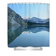 Bow Lake Panorama Shower Curtain
