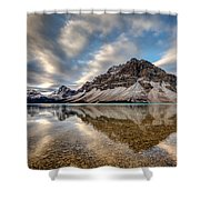 Bow Lake Reflection Shower Curtain