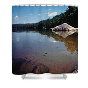 Bow Lake Tranquility Shower Curtain