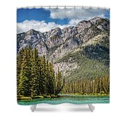 Bow River Banff Alberta Shower Curtain