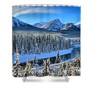 Bow River Valley View Shower Curtain