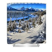 Bow Valley Mountains Shower Curtain