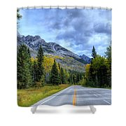 Bow Valley Parkway Banff National Park Alberta Canada Vi Shower Curtain