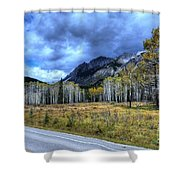 Bow Valley Parkway Banff National Park Alberta Canada Shower Curtain