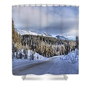 Bow Valley Parkway Winter Conditions Shower Curtain