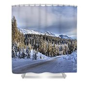 Bow Valley Parkway Winter Scenic Shower Curtain