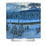 Bow Valley River Giant Panorama Shower Curtain