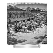 Morant's Curve Black And White Shower Curtain
