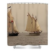 Bowditch And American Eagle Good Wind Shower Curtain