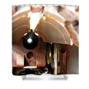 Bowfin Submarine 22mm Deck Gun Shower Curtain