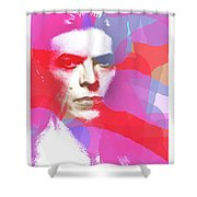Bowie 70s Chic  Shower Curtain