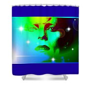 Bowie In Blue Shower Curtain