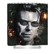 Bowie With Glasses Shower Curtain