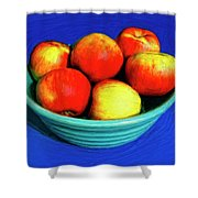 Bowl Of Apples Shower Curtain