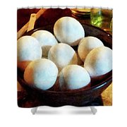 Bowl Of Eggs Shower Curtain