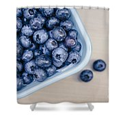 Bowl Of Fresh Blueberries Shower Curtain