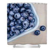 Bowl Of Fresh Blueberries Shower Curtain