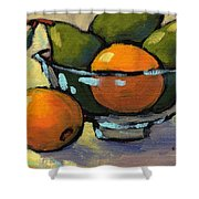 Bowl Of Fruit 4 Shower Curtain