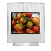 Bowl Of Heirloom Tomatoes Shower Curtain