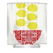 Bowl Of Lemons- Art By Linda Woods Shower Curtain