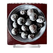 Bowl Of Plums Still Life Shower Curtain