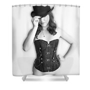 Bowler And Corset Shower Curtain