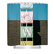 Bowling Alley Sign Shower Curtain by Bryan Mullennix