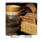 Bowls And Baskets Shower Curtain