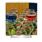 Bowls Full Of Color Shower Curtain