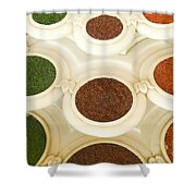 Bowls Of Spices - India Shower Curtain