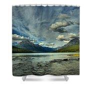 Bowman Lake Montana Shower Curtain