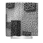 Box  Circles Squared 2 Shower Curtain